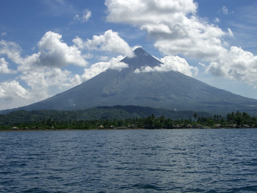 Mayon Vlcano from the Sea